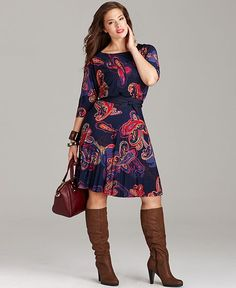 Trend Report Plus Size Status Print Paisley Dress Look - Plus Sizes - Macy's