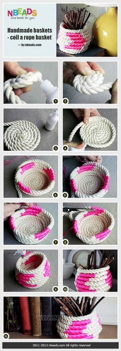 handmade baskets - coil a rope basket