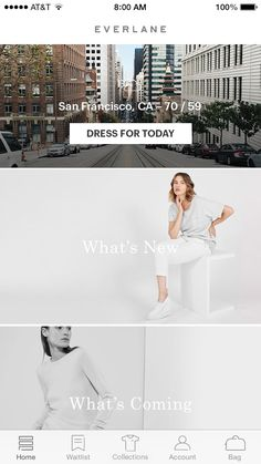 Pin for Later: This App Makes Getting Dressed the Easiest Part of Your Day The Homepage