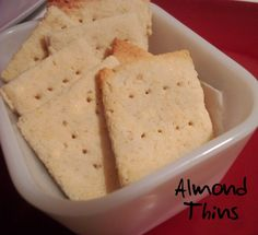 Almond Thins ~ Low Carb Crackers