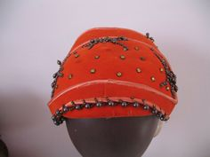 1930's Beaded Bandeau Hat by C.A. Rowell by SusieQsVintageShop