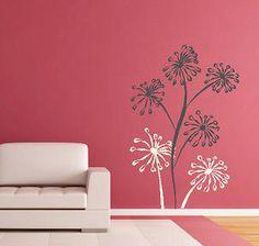 Funky Flowers Blooms Vinyl Lettering wall by itswritteninvinyl, $38.00