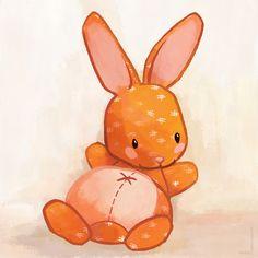 Le lapin qui aimait bien causer Art Print by Delphine Doreau | Society6