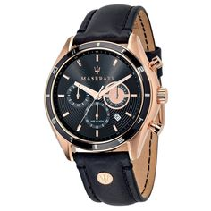 Shop MASERATI Men's Chronograph Quartz Watch with Leather Strap – ✓ free delivery ✓ free returns on eligible orders. Vintage Watches For Men, Luxury Watches For Men, Maserati Levante, Sport Mode, Maserati Ghibli, Maserati Car, Maserati Quattroporte, Bracelet Cuir, Cool Watches