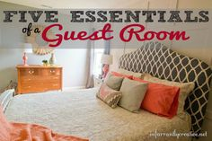 DIY Home Decor | Get ready for holiday guests by checking out this guide on the Five Essentials of a Guest Room! | #Ad