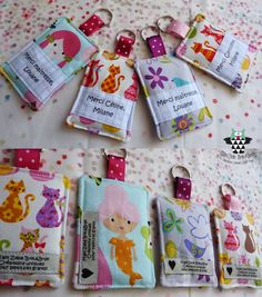 PORTE CLES MERCI MAITRESSE Diy For Kids, Crafts For Kids, Sewing Crafts, Sewing Projects, Bazaar Ideas, Creation Couture, Couture Sewing, Sewing Box, Craft Fairs