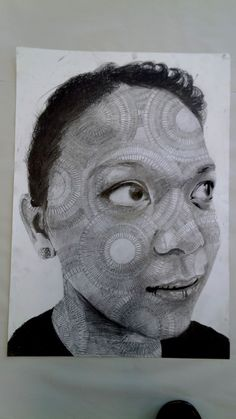 Lizett Pencil Portait in A2, by Martha Nia Williams