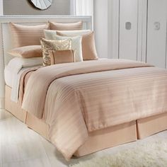 Jennifer Lopez bedding collection Ember Glow Bedding Coordinates. Want this!!! Beautiful peach,taupe,white, and rose gold feel.