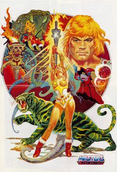 When I grow up I want to be He-Man and drive my BattleCat to work.