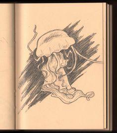 Jellyfish sketch - Susan Sieber