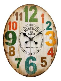 Earth de Fleur Homewares - Bistrot de Paris Wall Clock
