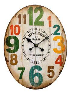 Earth de Fleur Homewares - Bistrot de Paris Wall Clock
