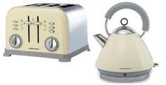 Morphy Richards Cream Kettle & 4 Slice Cream Toaster Bundle - Accents Range