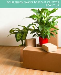 Four Quick Ways to Fight Clutter