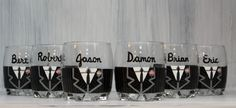 Set of 2 Scotch Glasses for Groom and Groomsmen