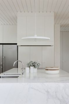 .White. Marble. Stainless. Minimal. Love.