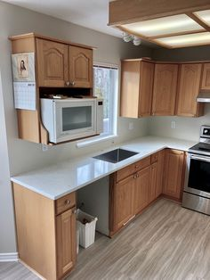 This kitchen was easily updated with the install of the new quartz countertops! Kitchen Reno, Kitchen Design, Kitchen Cabinets, Kitchen Installation, Quartz Countertops, Houzz, Room, Home Decor, Bedroom