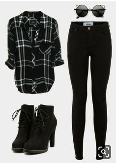 Black Flannel Fashion Outfit Ideas Stylebook Fall Fashion Womens Fa Informations About Schwarze Flanell Mode Flannel Fashion, Flannel Outfits, Hipster Outfits, Teen Fashion Outfits, Mode Outfits, Cute Casual Outfits, Grunge Outfits, Outfits For Teens, Stylish Outfits