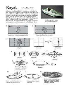 Kayak Diagram - Money Origami Dollar Bill Art