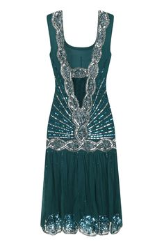 Zelda Flapper Dress Emerald - New In