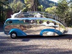 Cruising thru Palm Springs Modernism Week 2012 Decoliner bus by Randy Grubb
