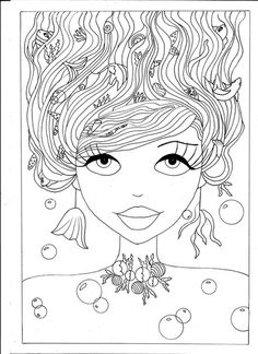 Русалочка Сьюзи #adult coloring #coloring for adults #mermaid coloring #free coloring page