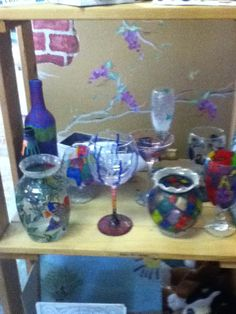 Glass painted projects. Celebrate!