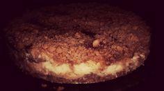 Torta farofa de banana e creme de coco