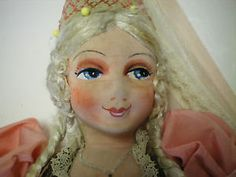 Antique-French-Fairy-Princess-Boudoir-doll-with-Hand-Painted-Face