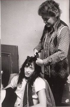 Johnny Thunders being all dolled up by his own mother.