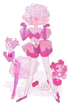 Diamante Rosa Steven Universe, Rose Quartz Steven Universe, Steven Universe Anime, Steven Universe Drawing, Pink Diamond Steven Universe, Steven Universe Memes, Universe Art, Pretty Art, Cute Art