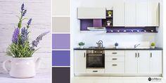 Culoarea anului poate fi și în bucătăria ta, într-un decor rustic-modern! 💜 Decor Rustic, Bathroom Lighting, Mirror, Modern, Furniture, Home Decor, Bathroom Light Fittings, Homemade Home Decor, Decoration Home