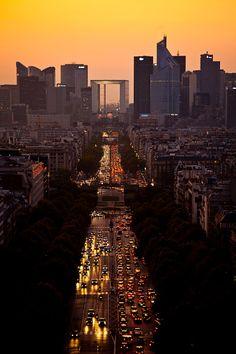 View of the district of La Defense, business center. Paris, Ile de France, France, Europe.
