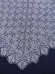 Snowflake Lace Shawl by evelyndesigns, via Flickr