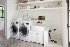 38 Functional And Stylish Laundry Room Design Ideas To Inspire. 38 Functional And Stylish Laundry Room Design Ideas To Inspire. Have a look at this incredible collection of laundry room design ideas that are functional, stylish and full of inspiration. Mudroom Laundry Room, Laundry Room Remodel, Farmhouse Laundry Room, Laundry Room Design, Laundry Decor, Laundry Shelves, Laundry Storage, Room Shelves, Laundry Room With Sink