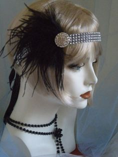 1920's Headpiece Flapper Headband Gatsby by elisevictoriadesigns, $39.00