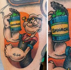 Popeye / Spinach tattoo