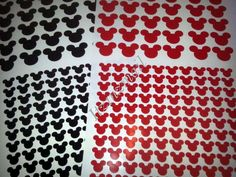Vinyl 1 80 ct and 1/2 220 ct Black and Red Mickey by ItzInZmail