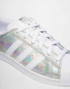 Image 4 - adidas Originals - Superstar - Baskets effet holographique - Blanc