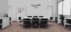 Meeting Room Idea - Modern Interior Design - Restyling - White / Idea Sala Riunioni - Arredamento Interni Moderno - Rinnovo - Bianco