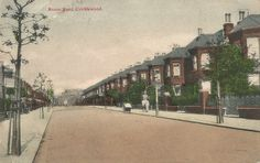 Old Postcard - Anson Road. Cricklewood. Postmarked 18 January 1907