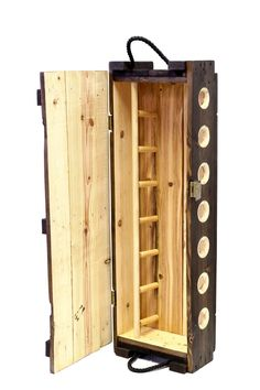 wine rack made from an authentic US Army ammunition box Wine Rack Inspiration, Military Box, Wine Rack Design, Flat Shapes, Easter Bunny Decorations, Italian Wine, In Vino Veritas, Wine Storage, Craft Stick Crafts