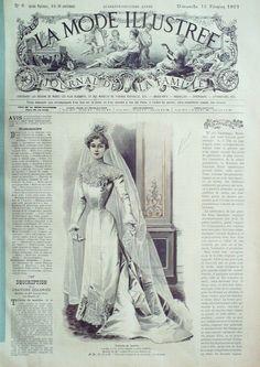 La Mode Illustrée. 10 février 1901. Toilette de Mariée