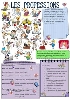 Les PROFESSIONS French Verbs, French Grammar, French Teacher, Teaching French, Colegio Ideas, French Worksheets, Teaching Themes, Core French, French Education