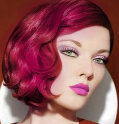 Love the style and she looks great in PINK hair but not for me unless I was in Paris or New York. :)