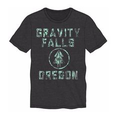 Gravity Falls Oregon Pine T-Shirt ($20) ❤ liked on Polyvore featuring tops and t-shirts