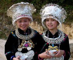 All sizes | Long Skirt Miao Girls dressed for festival | Flickr - Photo Sharing!