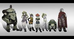 Tags: SQUARE ENIX, Chrono Trigger, Marle, Kaeru, Magus, Ayla, Lucca Ashtear, Robo, Crono, Pixiv Id 101197