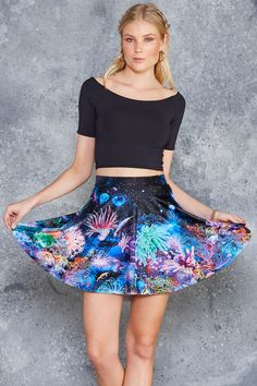 Friends Not Anemones Pocket Skater Skirt - 7 DAY UNLIMITED ($65AUD) by BlackMilk Clothing