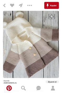 New Ideas Crochet Jacket Sweater Baby Cardigan Baby Cardigan Knitting Pattern Free, Baby Boy Knitting Patterns, Knitted Baby Cardigan, Knit Baby Sweaters, Knitted Baby Clothes, Crochet Jacket, Knitting For Kids, Crochet For Kids, Baby Patterns